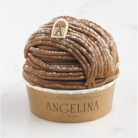 Mont-Blanc, the signature pastry of Angelina (Rue Rivoli) since 1903, Paris