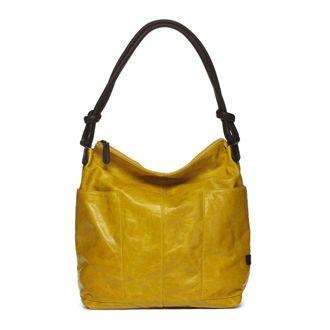 Chelsea Vintage Italian Leather Tote: Yellow