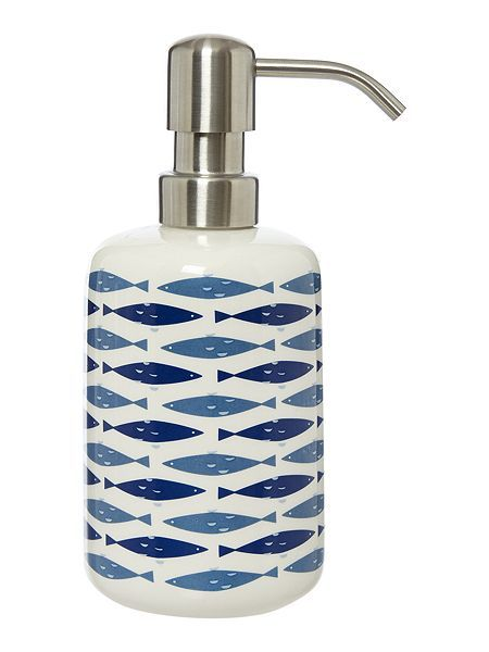 Fish ceramic soap dispenser