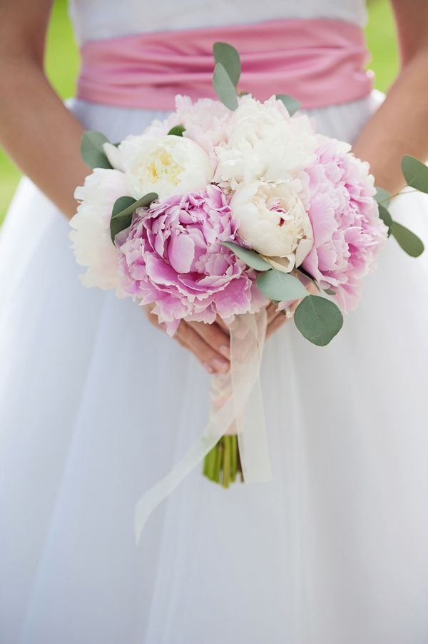 Pink and white peony bouquet | Photo by This Is Photography | Floral design by Props Floral Design