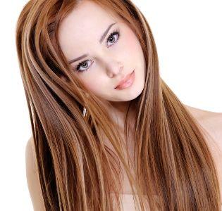 balayage roux sur cheveux chatain