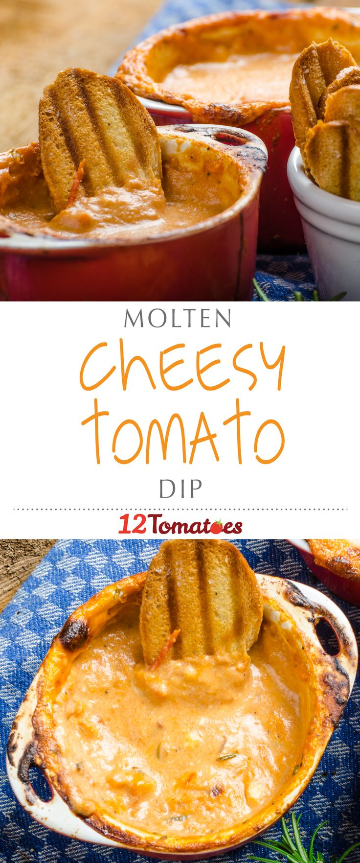"Cheesy Molten Tomato Dip | This dip should be at the top of your ""To Make"" list!"