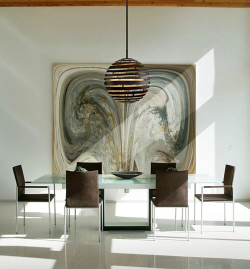 Tango led suspension modern home design for luxury houses dining room lighting