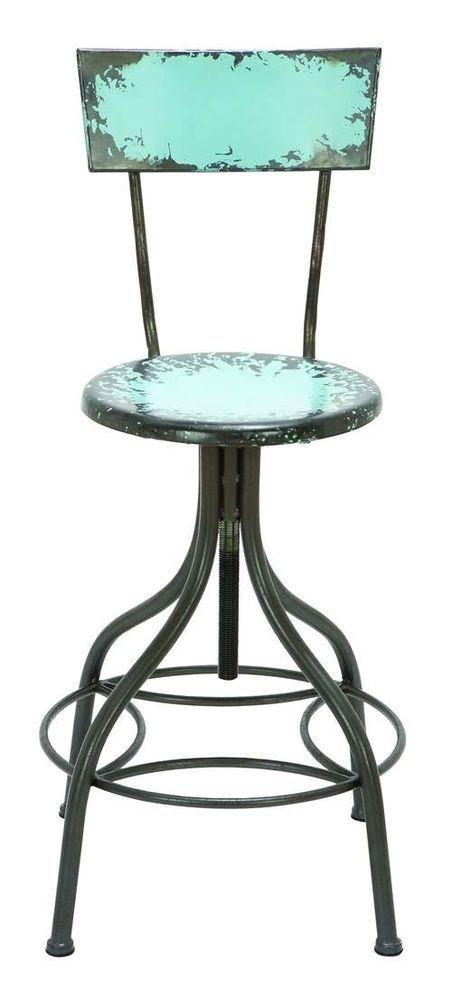 Adjustable Restoration Anthropologie Style Vintage Industrial Barstool