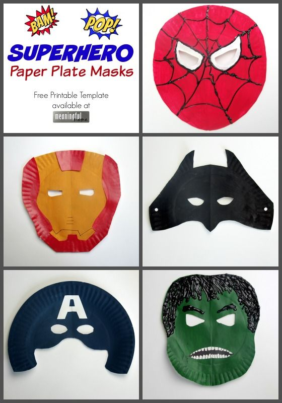 "My son absolutely loved making and wearing these superhero paper plate masks. These masks have been worn by all the kids since they were first made, and I made a free template printable for you so that you can easily duplicate the idea with your own kids. You will have templates for Hulk, Spiderman, Captain America, Iron Man and Batman. If you have your own superheroes in your life, you… <a href=""http://meaningfulmama.com/2015/07/superhero-paper-plate-masks.html"">{Read More}</a>"