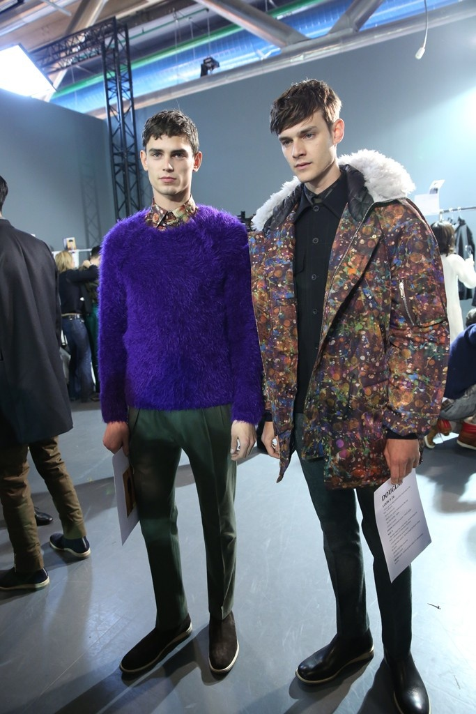 Backstage at Paul Smith Men's Fall 2013