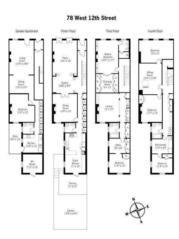 fenwick keats real estate : floorplan view | 47 west 9th street
