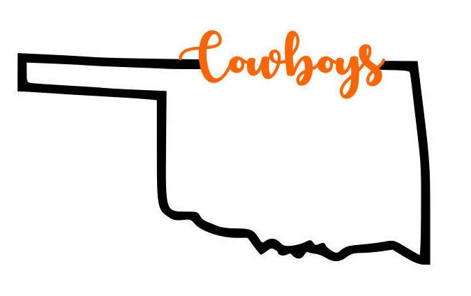 Cowboys State Of Oklahoma Svg Png Pdf By Fancyfrancies On Etsy Https Www Etsy Com Listing 588367095 Cowboys State Osu Cowboys Osu Oklahoma State University