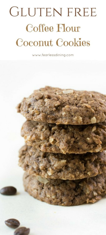 Gluten Free Coffee Flour Coconut Cookies