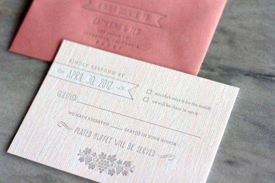 Faux bois invitations / Design Truly Smitten / Printing Thomas Printers / #wedinvite