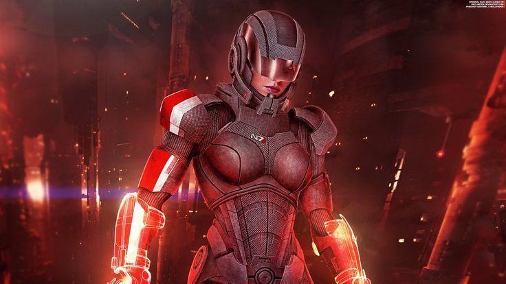 Femshep Sentinel Ii 2016 4k Wallpaper Von Redliner91 Femshep Redliner91 Sent Mass Effect Mass Effect Art Femshep