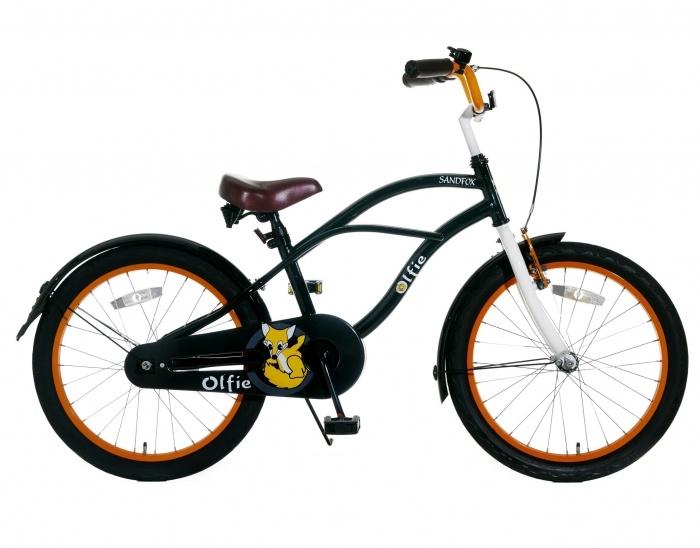 Jongensfiets Sandfox Zwart-Oranje 20 Inch | bestel gemakkelijk online op Fietsen-verkoop.nl