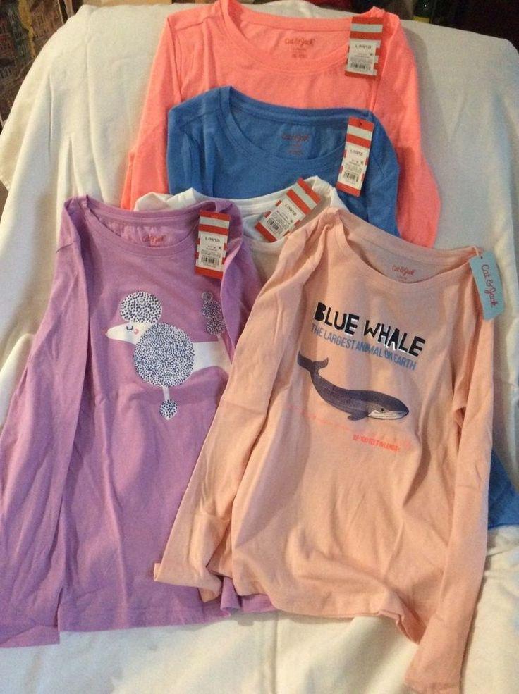 Cat & Jack girl long sleeve shirt sizes XS, S, M, L, XL girls tops NWT  | eBay