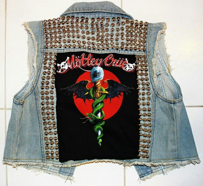 Custom Motley Crue studded vest SOLD (insta: @hot_shaman)