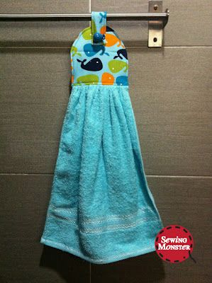 easy sewing projects for kids   Here's the hand towel especially for my kids.