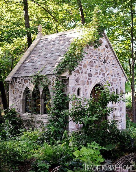 Stone Chapel at the weekend home of Kansas City interior designer John Rufenacht.