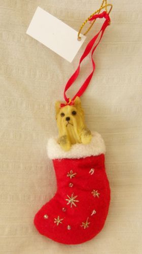 New in Box Santa's Little Pals Ornament Yorkie Yorkshire Terrier