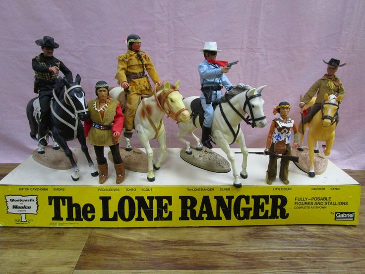 1970s LONE RANGER STORE DISPLAY  GABRIEL ACTION FIGURES VERY UNIQUE AND RARE  #Gabriel