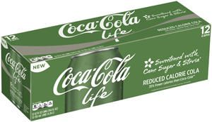 Coca-Cola Life, The Coca-Cola Company's first reduced-calorie sparkling beverage (and #BlogHer15 sponsor!), is sweetened with cane sugar and stevia leaf extract.
