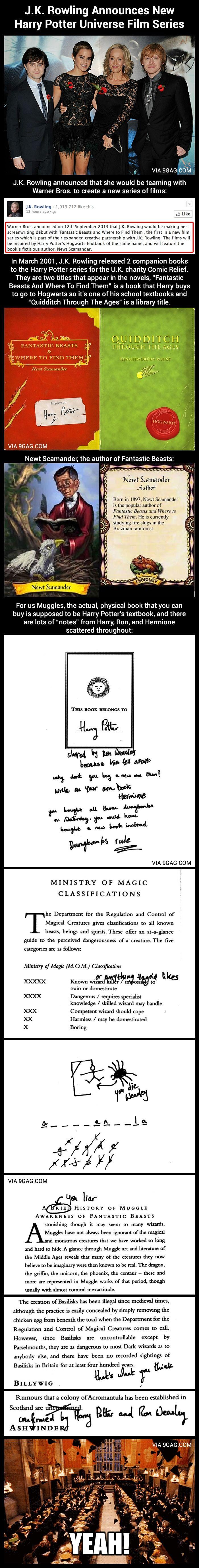 J.K. Rowling Announces New Harry Potter Universe Film Series