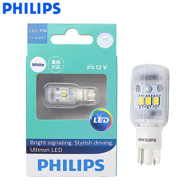Philips Led 921 T16 T15 W16w 11067ulw Ultinon Led 6000k Cool Blue White Turn Signal Reverse Light Indicators Lamp Stop Light 1x Rev Philips Led Stop Light Led
