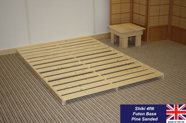 Shiki Futon Bed Base. Another simple DIY idea. I'd make it a bit higher, though...