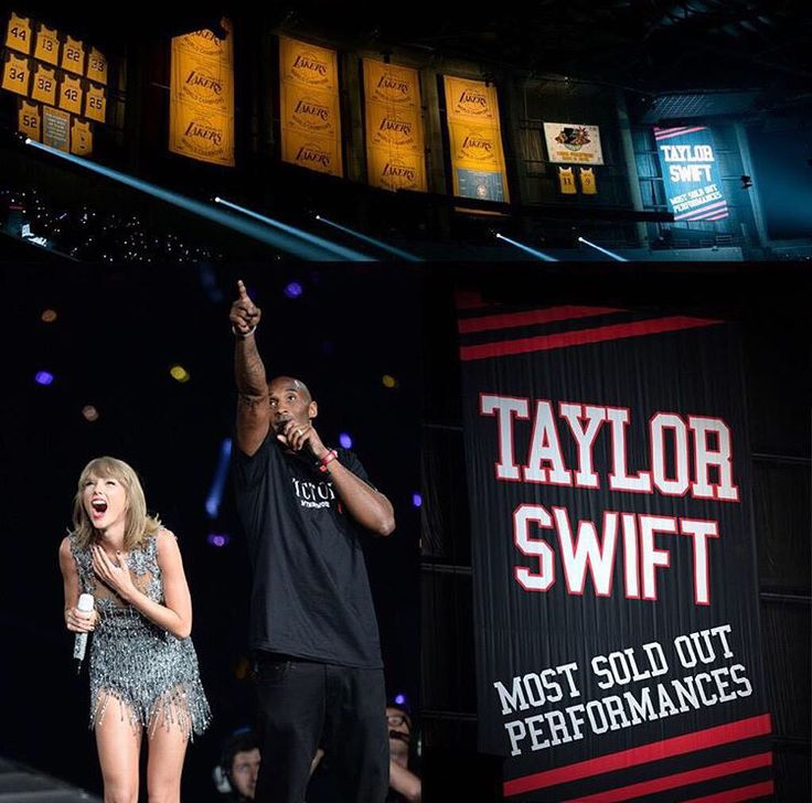 Taylor Swift and Kobi Bryant at the 1989 Tour in Los Angeles,CA - Staples Center Night 1