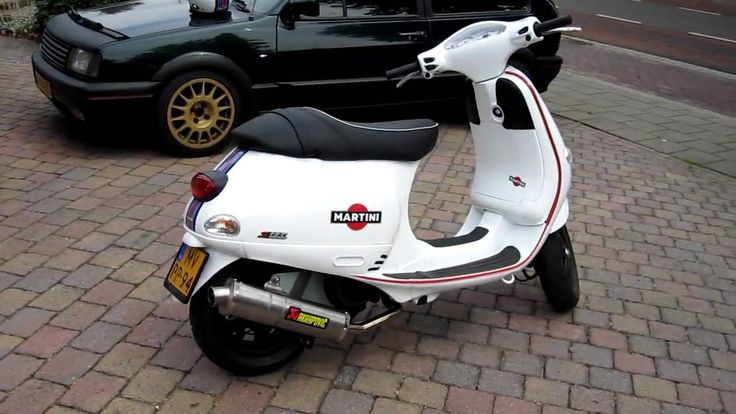 Martini Racing Vespa 125CC Remote Start - YouTube