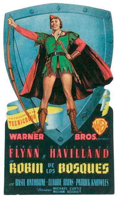 """Robin de los bosques (1938) """"The Adventures of Robin Hood"""" de Michael Curtiz y William Keighley - tt0029843"""