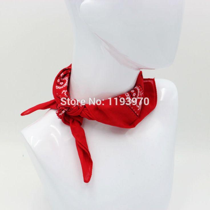 Red Paisley Cotton Bandanas Square Ladies Headscarf Neckerchief Women Headband Handkerchief SUJASANMY TUM-004