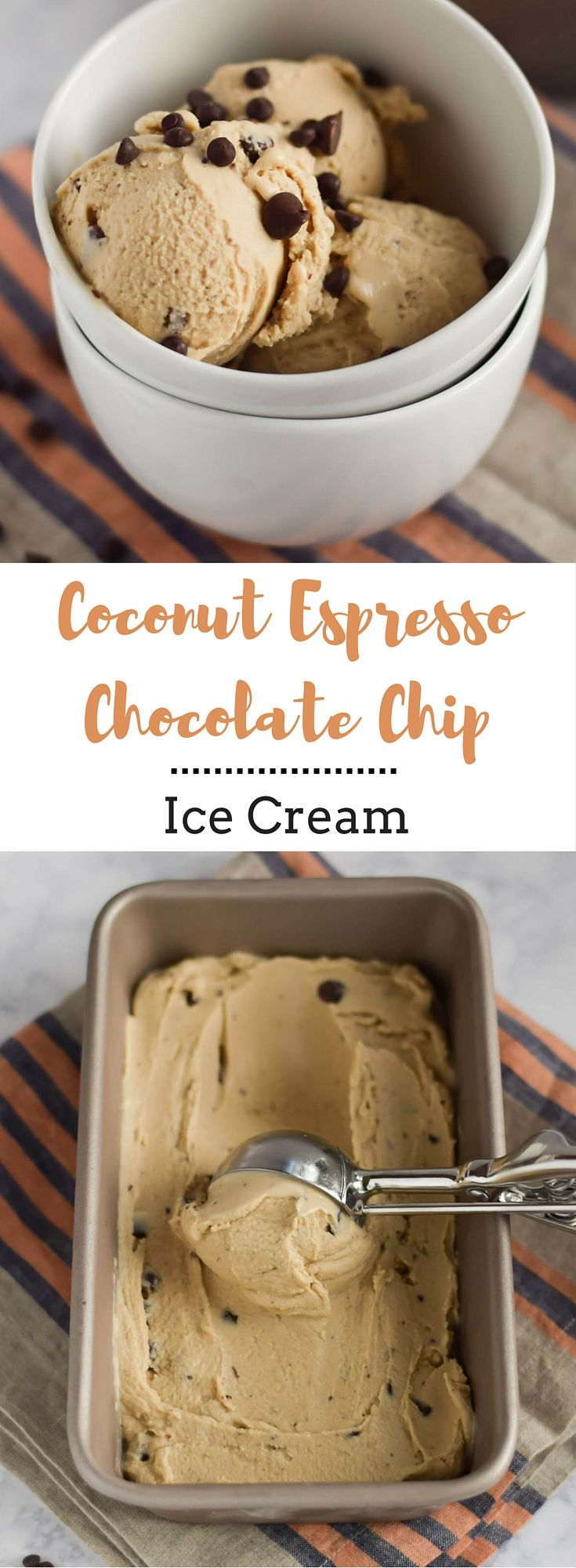 Coconut Espresso Chocolate Chip Ice Cream - Whether you are dairy free or not, you will love this Coconut Espresso Chocolate Chip Ice Cream. It's thick, creamy and just the right amount of sweetness. You won't believe how delicious it is with no cream and it requires only five ingredients. {gluten-free, vegan, dairy-free}
