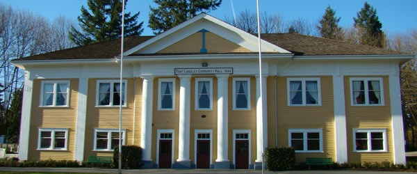 Fort Langley Community Hall - Lots of movies shoot in this little village. You'll see this hall quite often. British Columbia, Canada
