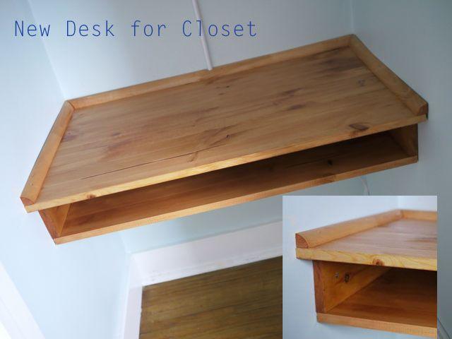 desk for the closet - love this idea!