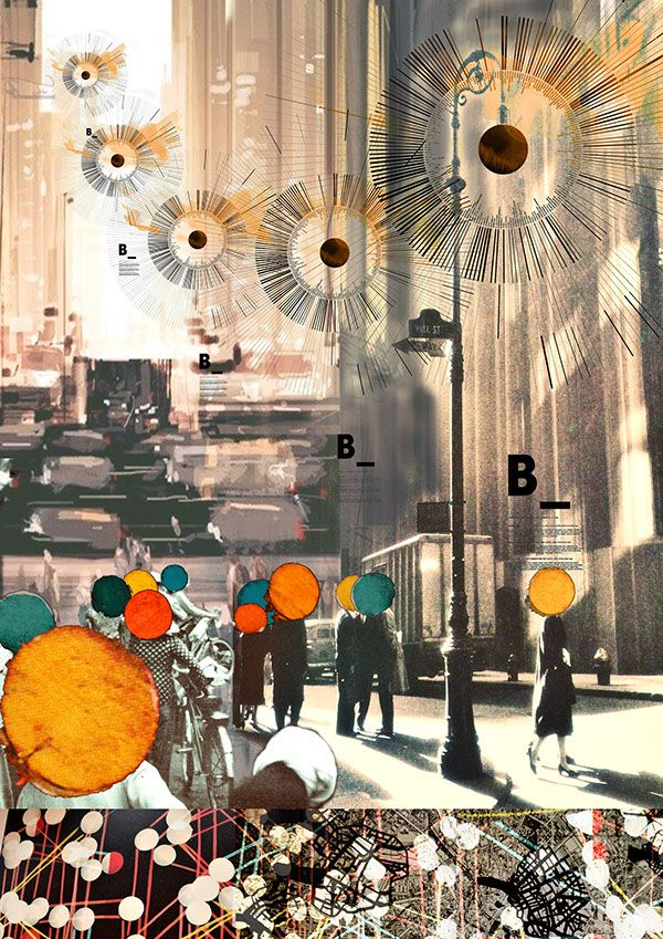 Collage. Moodpboard for Schindler Global award competition, Shenzhen, China.