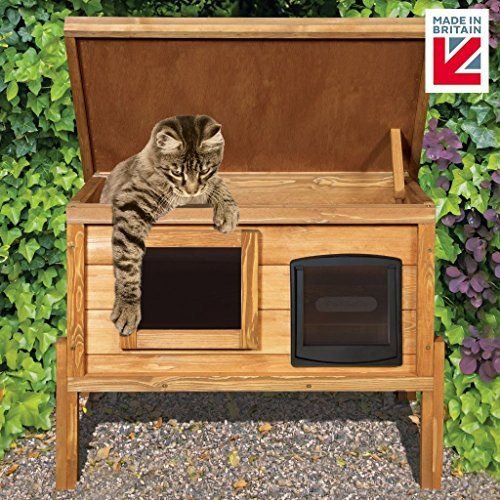 Best 25 Heated Outdoor Cat House Ideas On Pinterest