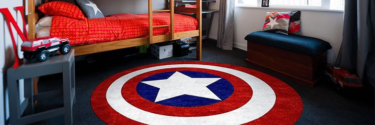 Superhero Rugs for Marvel & Justice League Decor. Looking for specific Superhero Rugs? We have them at Rug Rats. Batman, Superman and more. Free Shipping.