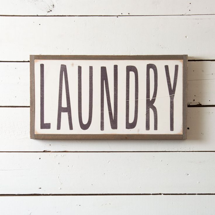 """""""Laundry"""" Wooden Sign"""