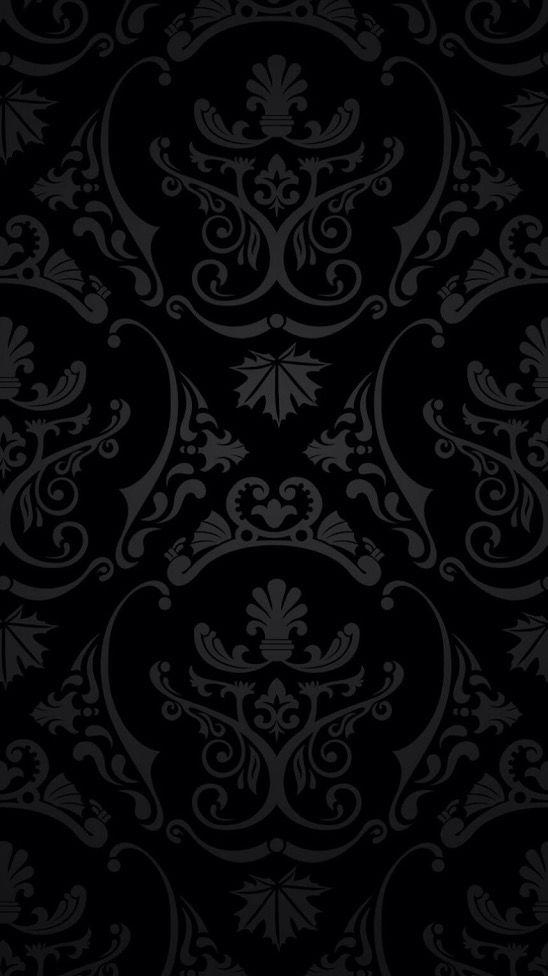 iPhone, Patern, Black - Wallpaper
