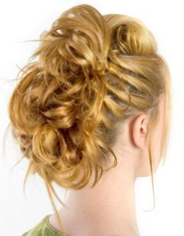 young girls prom hair updos for curly hair