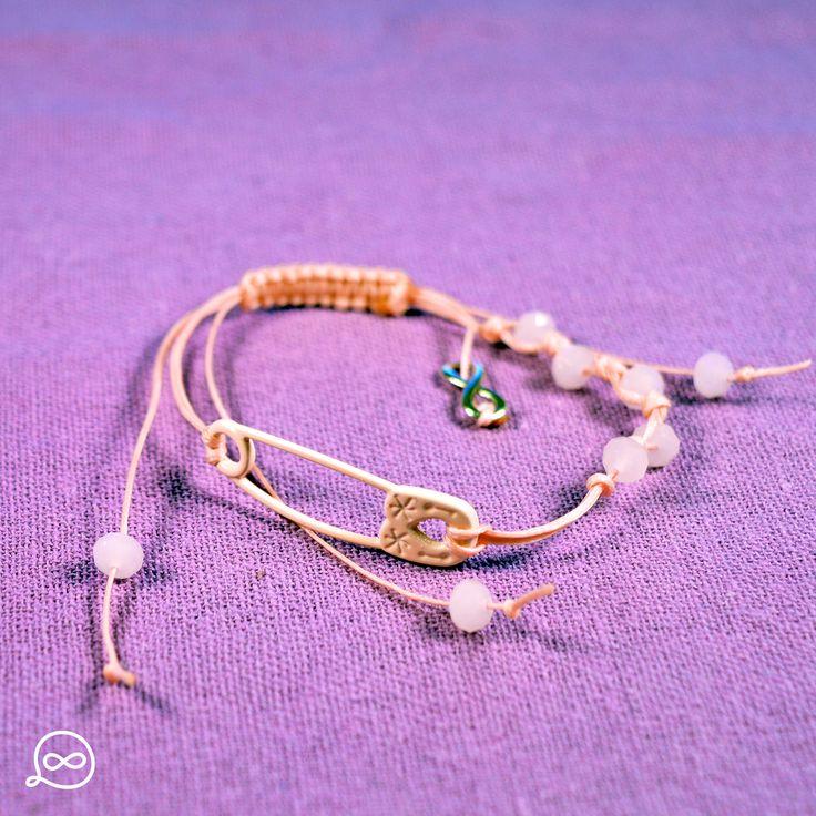 Pastel Pink Safety Pin Bracelet. #tufatufa