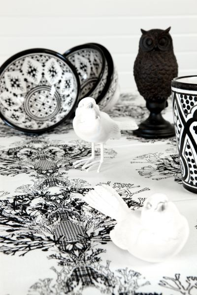 Mairo Fager table cloth. Designed by Anna Backlund.