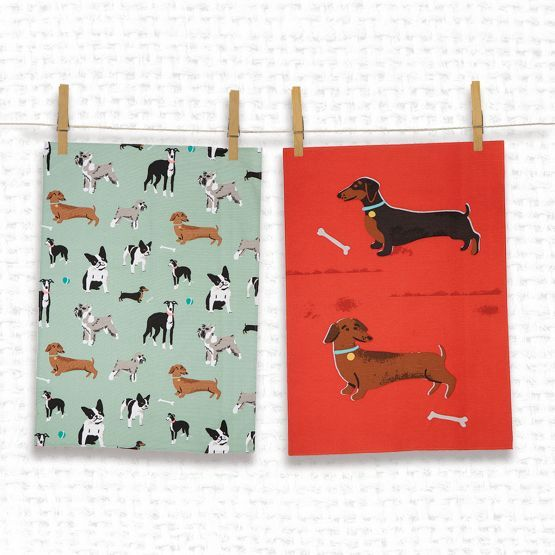 Tea Towels Pillow Talk: 560 Best Images About Dachshund Fabric On Pinterest