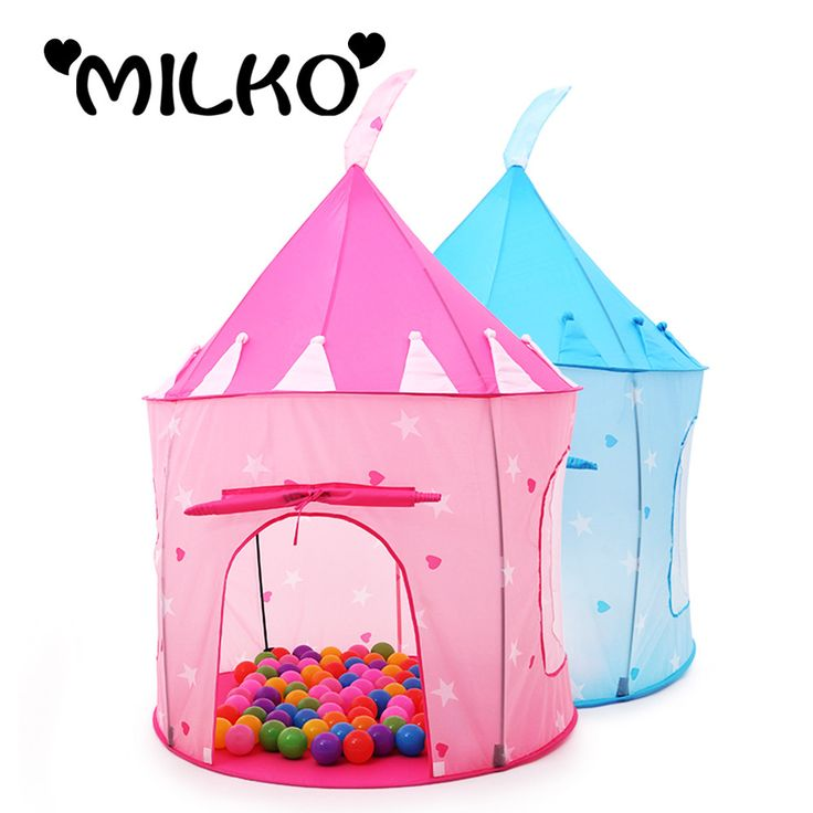 Safety Kids Teepee Huge Play Tents Princess Castle Tent for Children House Yard Stress Outdoors Baby Playpens Marquee Ball Pool