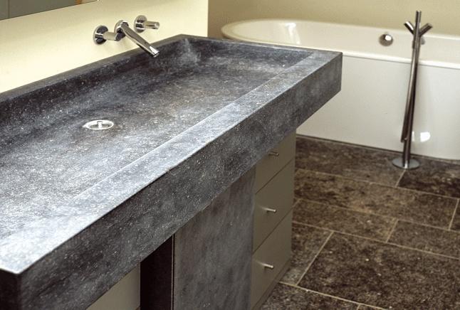 Blauwe steen voor badkamermeubel bathroom pinterest - Badkamermeubels steen ...