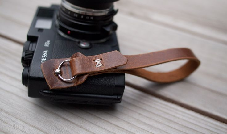 camera wrist strap by wook and faulk (I am so disappointed that this won't work on a DSLR camera) #camerastrap #leather #woodandfaulk #wriststrap