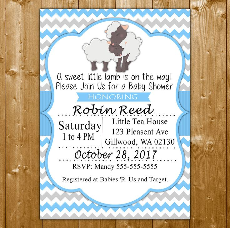 20 best Lamb Baby Shower Invitations & Ideas images on Pinterest ...