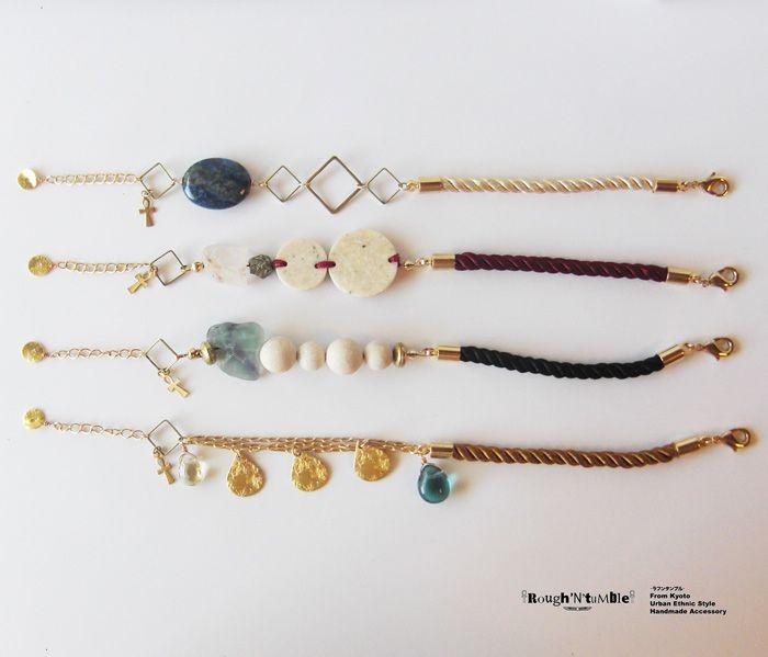 Rough'N'tumble : twist×stone bracelet | Sumally (サマリー)