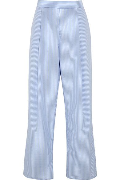 Georgia Alice takes an inventive approach to volume and tailoring with its 'Perret' pants. Cut from striped cotton - inspired by classic men's shirting - they have a comfortable elasticated waistband and generous wide leg. Wear yours with a deconstructed blouse or simple T-shirt.