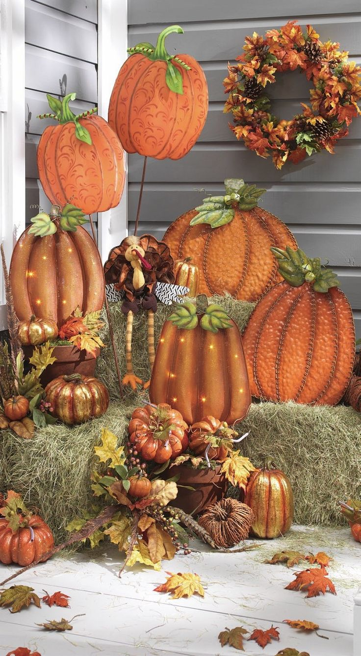Ideas about thanksgiving decorations outdoor on