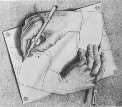 M C Escher Optical Illusions | Escher's Eye Drawing « Zoe Garbutt